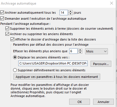 outlook explication